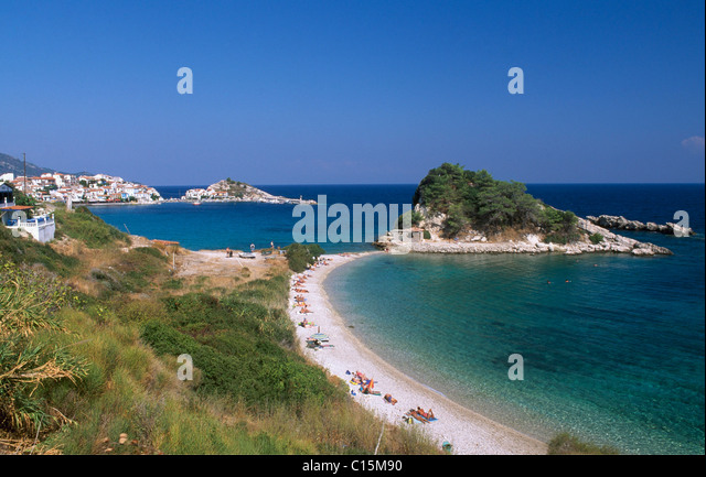 Kokkari Beach, Samos Island, Greece, Europe - Stock Image