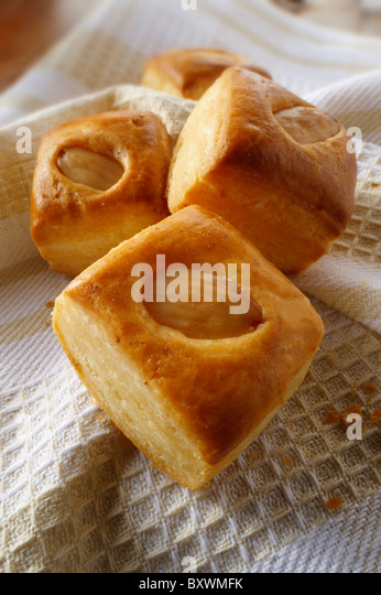 Ewes cheese and almond pastry - Stock Image