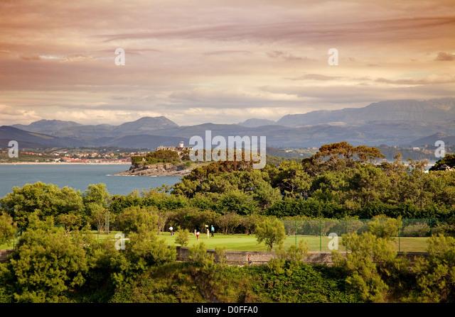 Mataleñas Golf Course Santander Cantabria Spain Campo de Golf Mataleñas Santander Cantabria España - Stock Image