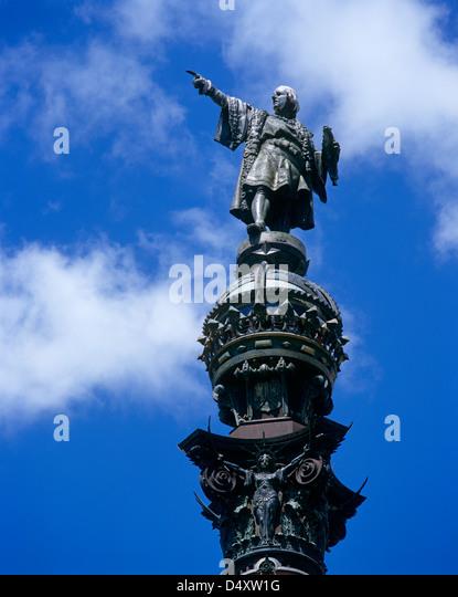 Statue of Columbus, Barcelona, Catalonia, Spain - Stock-Bilder