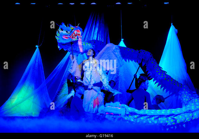 The soul of Vietnam, a cultural show in Ho Chi Minh City, Vietnam - Stock Image