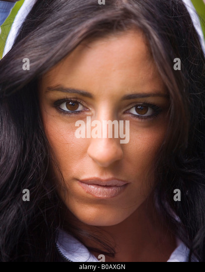 portrait of a young iranian beauty - Stock Image