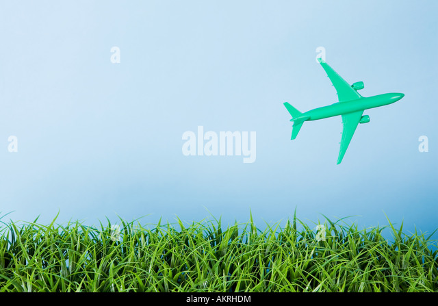 A toy airplane - Stock Image
