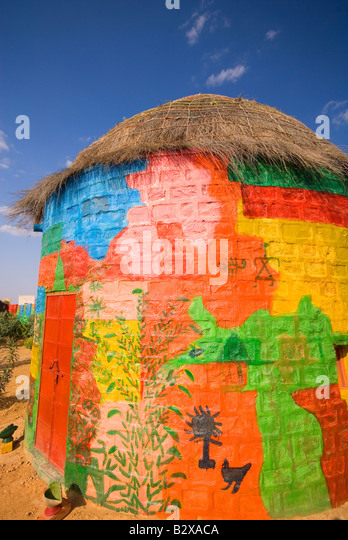Artist Colony, Great Thar Desert, near Jaisalmer, Rajasthan, India, Subcontinent, Asia - Stock Image