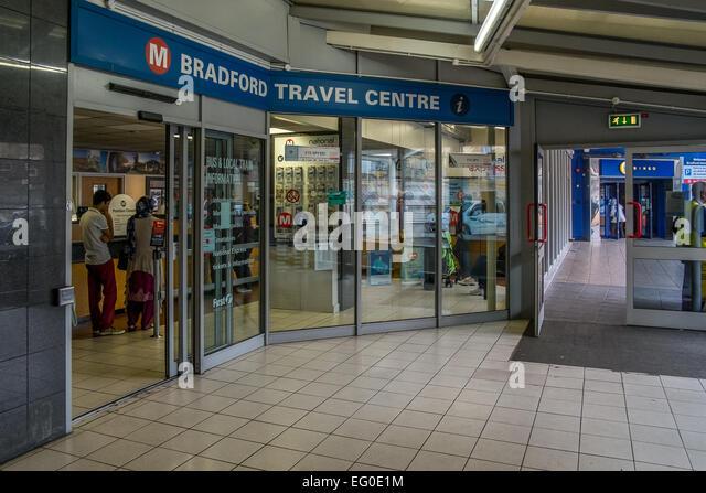 Bradford Travel centre at Bradford Metro - Stock-Bilder