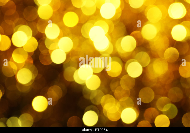 Abstract christmas lights as background - Stock Image