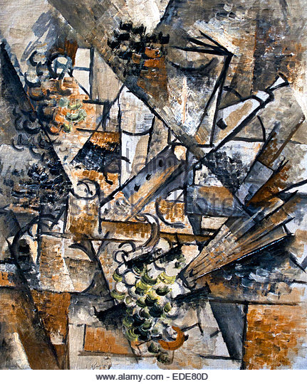 Still Life with clarinet 1911 George Braque 1882 - 1963 France French - Stock Image