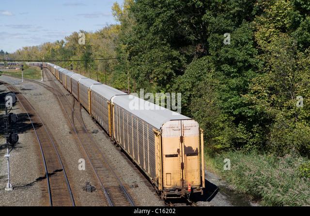 Freight train, Philadelphia, USA - Stock Image