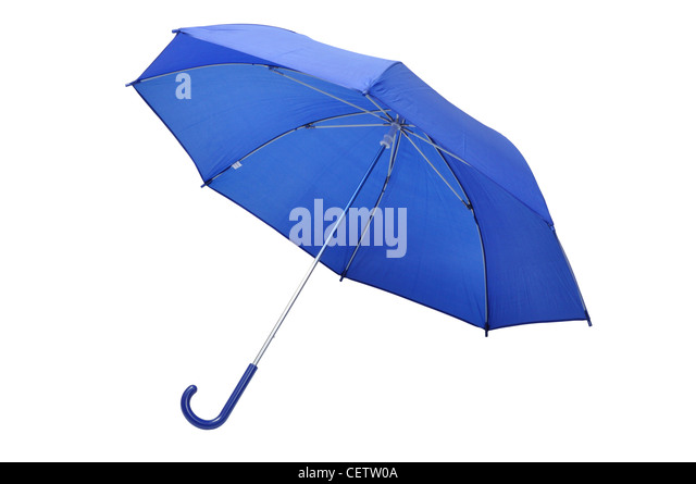Blue Umbrella - Stock Image