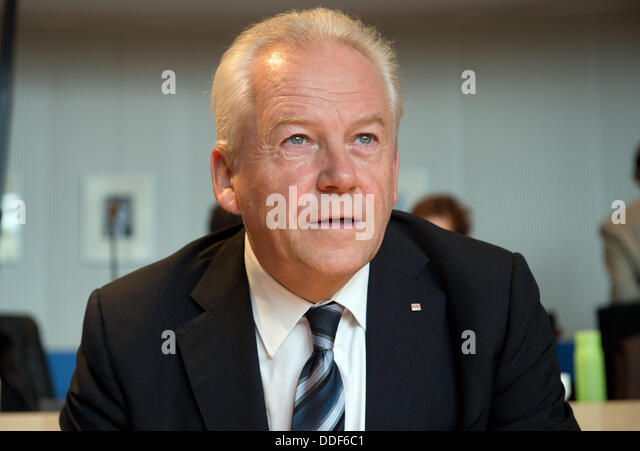 Berlin, Germany. 02nd Sep, 2013. The chairman of the Deutsche Bahn AG, Ruediger Grube takes part in a non-public - Stock Image