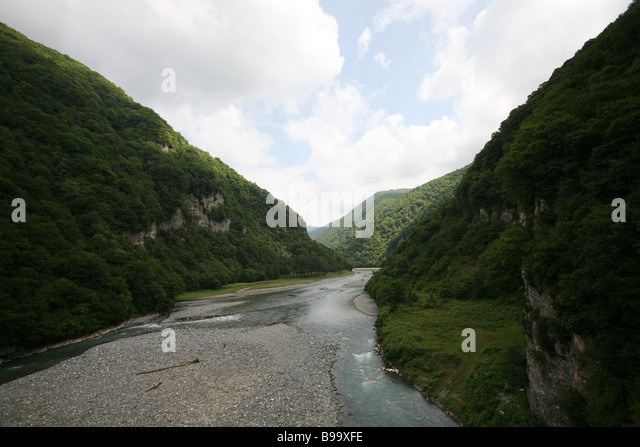 The Gumesta stream in Abkhazia - Stock Image