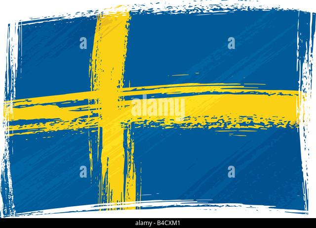 Grunge Sweden flag - Stock Image