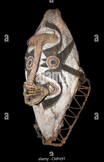 Ceremonial Eharo Mask, Papua New Guinea - Stock Image