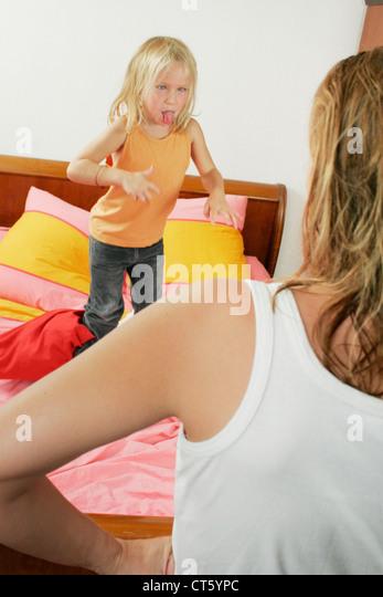 HYPERACTIVE CHILD - Stock Image