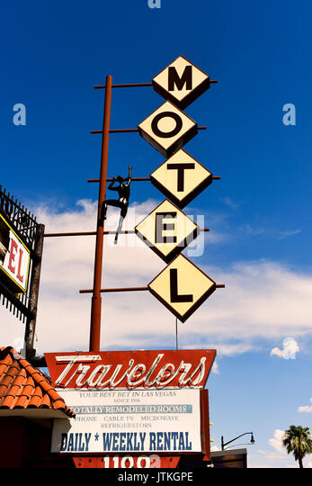 Travelers Motel in downtown Las Vegas - Stock Image