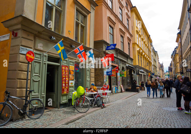 Stora Nygatan, Gamla Stan, old town, Stockholm, Sweden - Stock Image