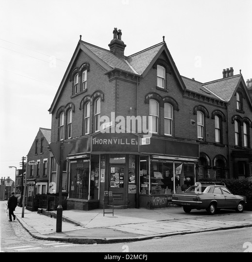 Thornville corner shop Thornville Road in Leeds Yorkshire England UK 1974  KATHY DEWITT - Stock Image