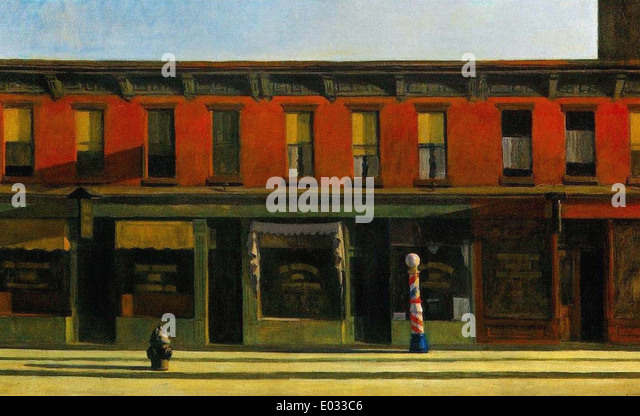 Edward Hopper Early Sunday Morning - Stock Image
