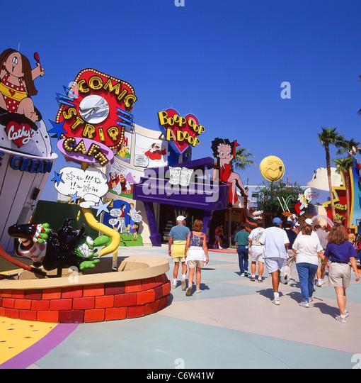 Island of Adventure entrance, Orlando, Florida, United States of America - Stock Image