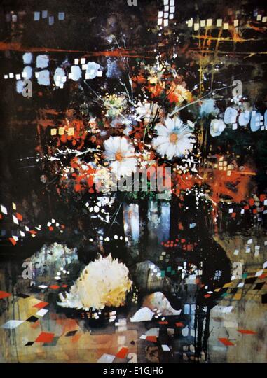 Edgar Doctor, Still Life in the Dark, 1994, Watercolour. - Stock Image