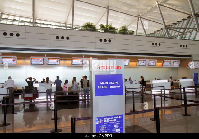 Uruguay Montevideo Carrasco General Cesáreo L. Berisso International Airport MVD Nuevo New Terminal departure - Stock Image