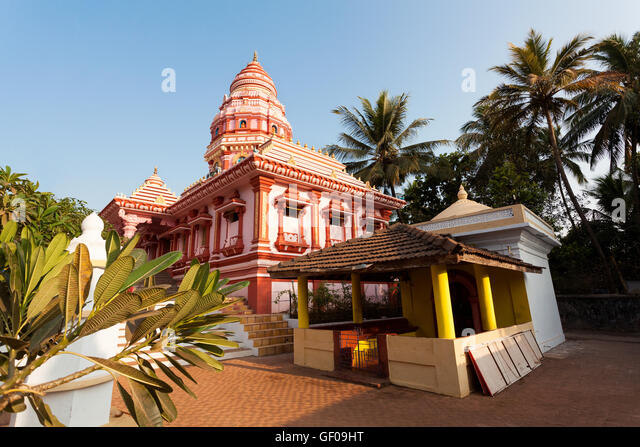 hindu temple india goa - Stock Image