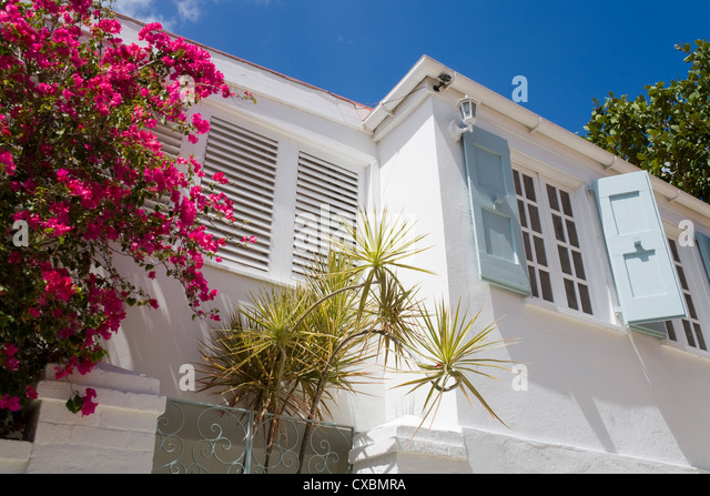 Historic Kongens Quarter, Charlotte Amalie, St. Thomas Island, U.S. Virgin Islands, West Indies, Caribbean, Central - Stock Image