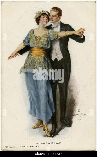 DANCING THE HALF + HALF - Stock Image