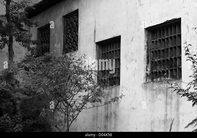 wall, Humble Administrator's Garden, Suzhou - Stock Image