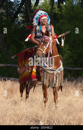 INDIAN CHIEF PAINTED HORSE  ANTIQUE NATIVE AMERICAN