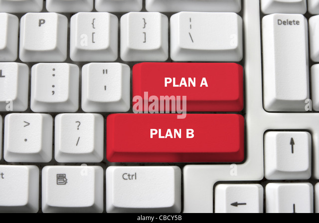Planning Concept with Computer Keyboard - Stock Image