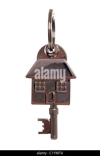 First house keys studio cutout - Stock Image