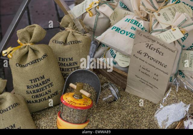 Herbes de Provence, Provence, France , Bouche du Rhone, - Stock Image