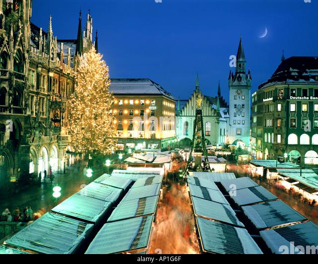 DE - BAVARIA: Christmas Market at Munich - Stock Image