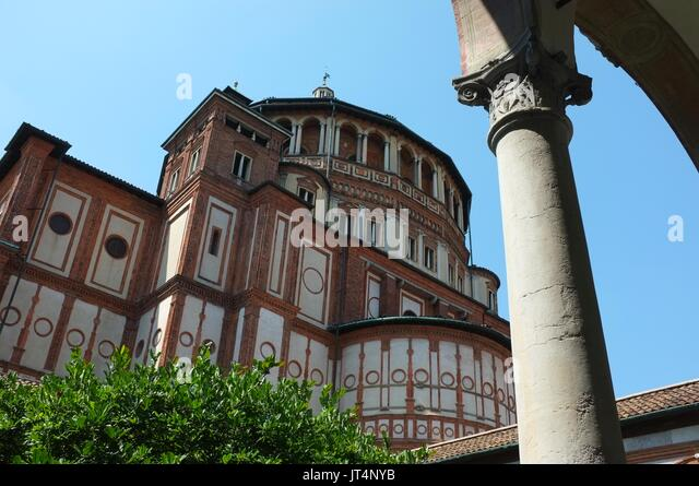 Santa Maria delle Grazie, Milan, Lombardy, Italy, July 2017 - Stock Image