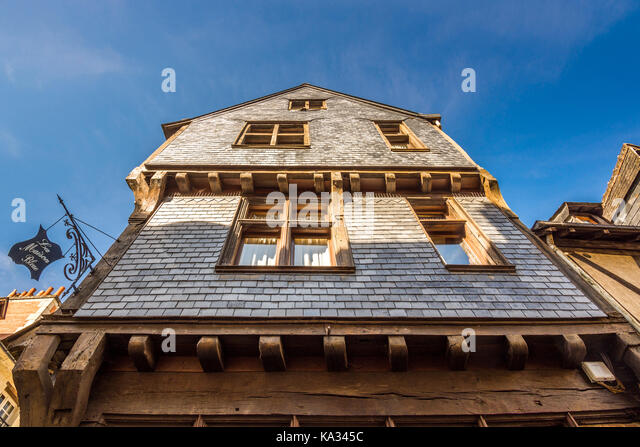 Old slate fronted house, Chinon, France. - Stock Image