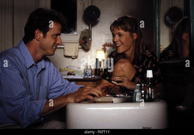 Apr 16, 1993; Spokane, WA, USA; AIDAN QUINN as Benjamin 'Benny' Pearl and MARY STUART MASTERSON as Juniper - Stock Image