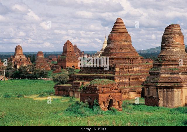 Myanmar Burma Bagan archeological zone - Stock-Bilder