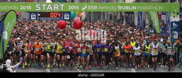 36th Dublin City marathon - Stock Image