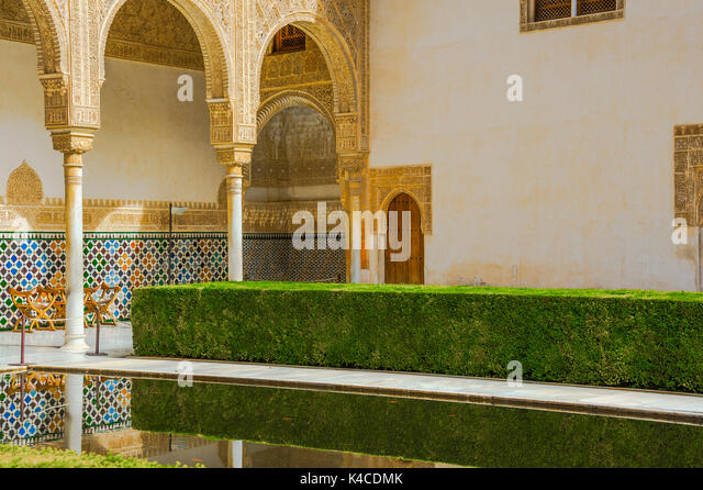 Tile Decoration In Alhambra Palace Stock Photos & Tile Decoration In Alha...