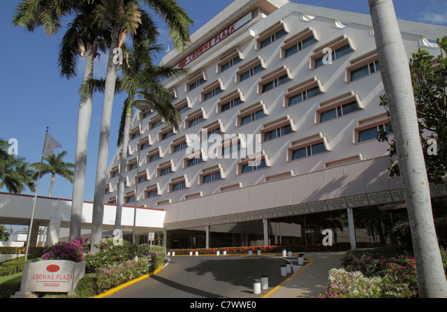 Nicaragua Managua Crowne Plaza Hotel InterContinental Hotels Group UK company building exterior modern architecture - Stock Image