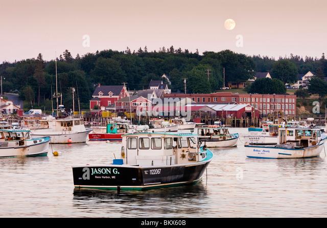 Maine fishing boat stock photos maine fishing boat stock for Lobster fishing in maine