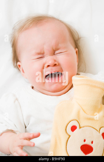 Baby crying - Stock Image