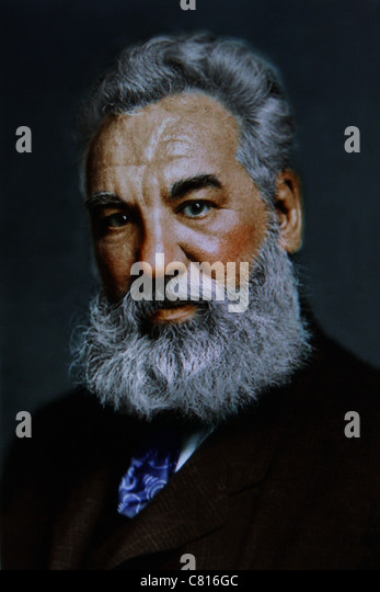 Alexander Graham Bell phone inventor - Stock Image