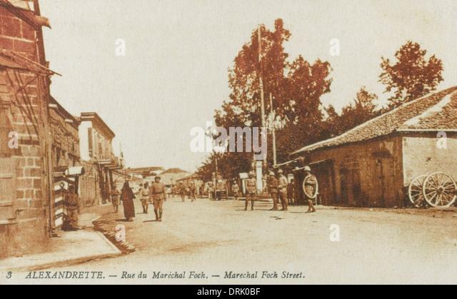 Rue Marechal Foch, Iskenderun, Turkey - Stock Image