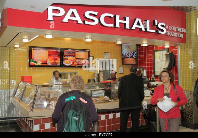 Atlanta Georgia ATL Hartsfield-Jackson Atlanta International Airport concession business fast food Paschal's - Stock Image