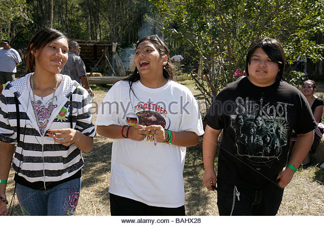 Florida Big Cypress Seminole Indian Reservation Billie Swamp Safari Big Cypress Shootout annual event Native American - Stock Image
