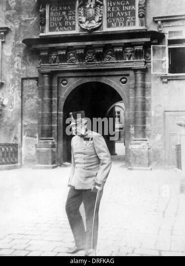 Emperor Franz Josef of Austria in old age - Stock-Bilder