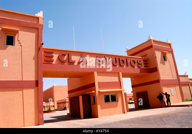 entrance movies studio, CLA studios, Ouarzazate, Marocco, - Stock Image