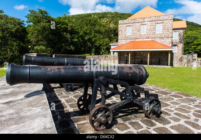 Old British Fort Shirley, Dominica, West Indies, Caribbean, Central America - Stock Image